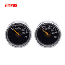Airsoft PCP Air Rifle Gauge 2pcs 2000psi Luminous Mini Micro High Pressure Manometre Manometer M10 *1