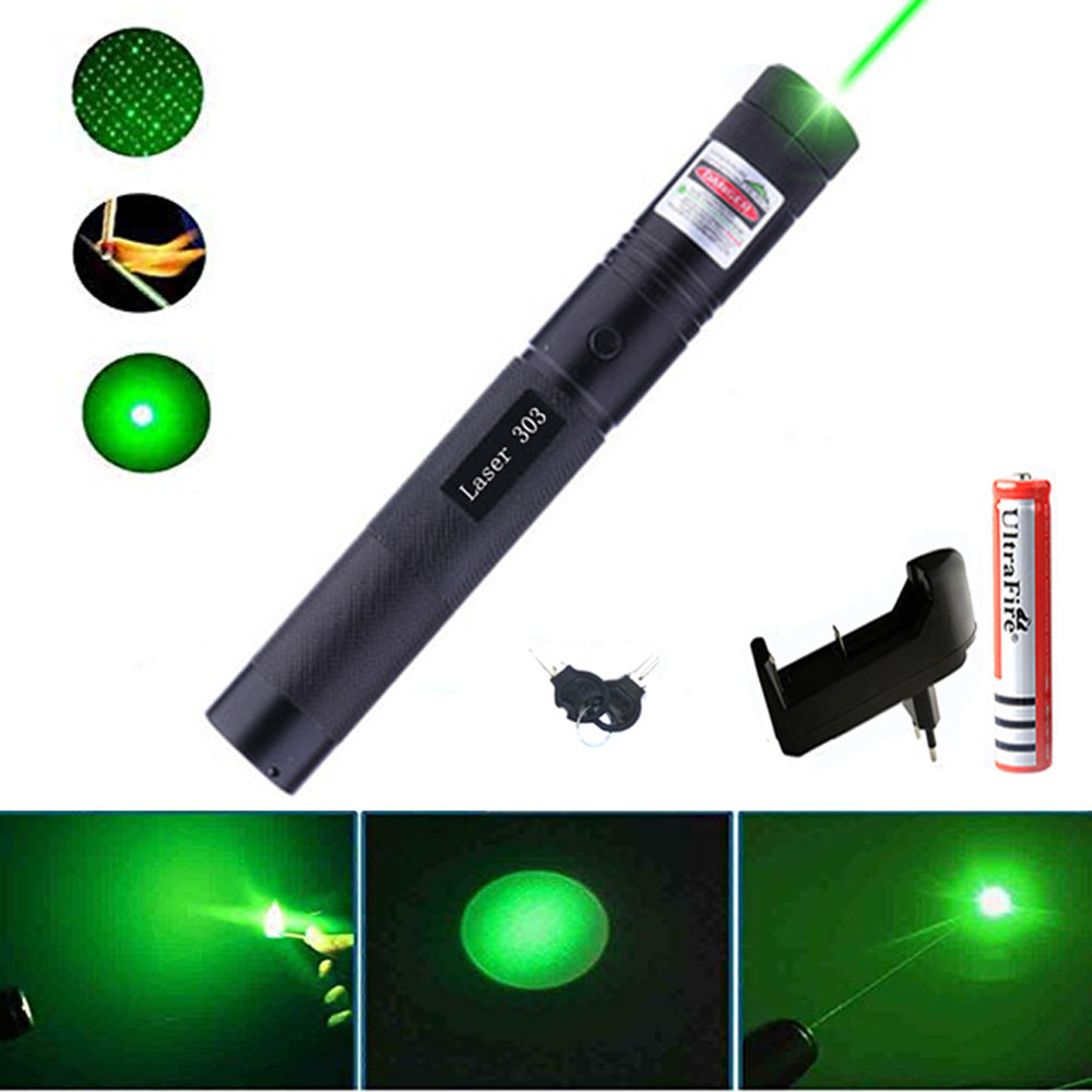 Hunting Green purple red laser pointer Laser Sight hight 10000m 532nm Powerful Adjustable Focus Lazer with Burning laser 303