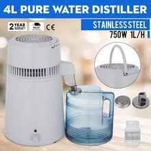 Водный дистиллятор 4l 750w сертифицированный ce для дома/офиса/стоматологической
