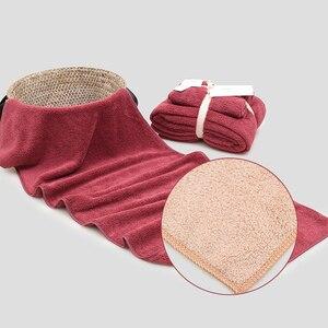 Image 5 - 12 Kleuren 2 Stuks Handdoek Microfiber Stof Handdoek Set Pluche Bad Gezicht Handdoek Quick Dry Handdoeken Voor Volwassen Kinderen bad Super Absorberende
