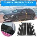 6 шт./компл. углеродного волокна авто окна литья B отделка стоек Крышка для Mercedes-Benz W204 автомобильные аксессуары старый C Class (2007-2013)