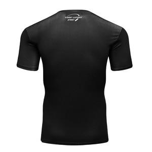 Image 3 - 2019 camisa Dos Homens T Compressão Camisa Punisher 3D Impresso camisetas Homens Raglan Manga Curta Tops Fitness CODY LUNDIN