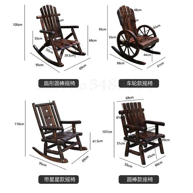 Solid Wood Rocking Chair   4