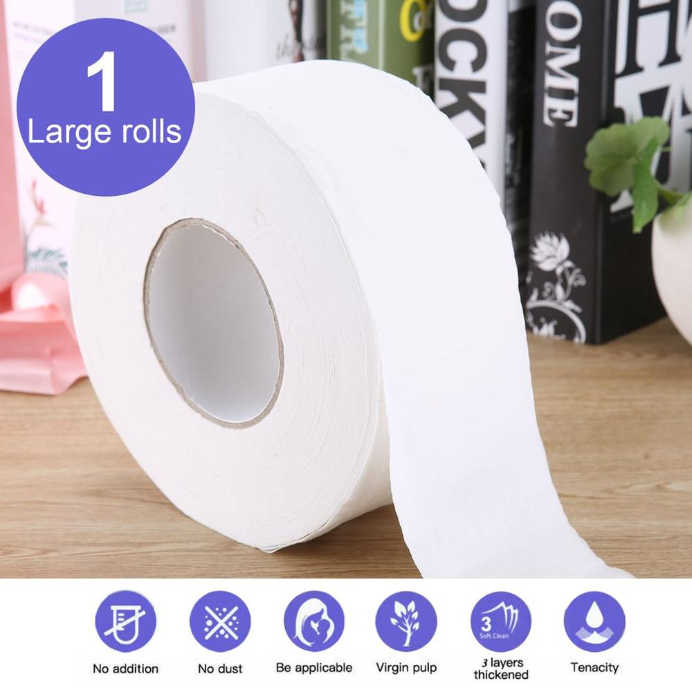 Large 2020 Hot Family Size Grain Paper 3 Layers Toilet Roll Paper Tissue Roll Paper Primary Wood Pulp Toilet Paper 2 Rolls