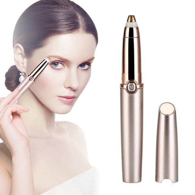 Electric Eyebrow Trimmer Makeup Painless Eye Brow Epilator For Women Mini Shaver Razors Portable Facial Hair Remover Female