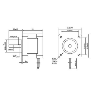 Image 5 - 2Pcs 17Hs08 1004S 4 להוביל Nema 17 מנוע צעד 20mm 1A 13Ncm(18.4Oz. ב) 42 מנוע Nema17 צעד עבור Diy 3D מדפסת Cnc Xyz
