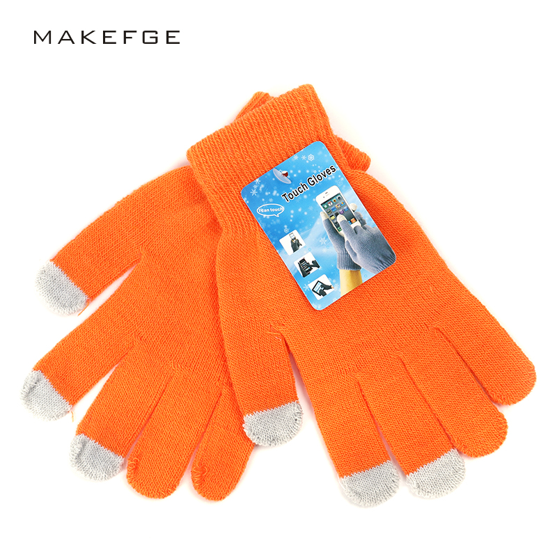 2019 Fashion Touch Screen Gloves Women's Knitted Gloves Autumn And Winter Warm High Quality New All-finger Gloves