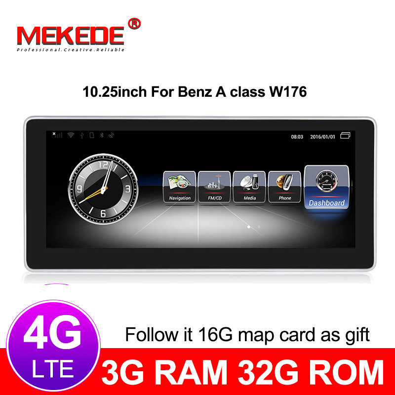 Car Multimedia Player 4G lte Android 7 1 3 32G Car Radio DVD player For Benz