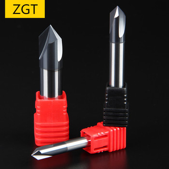 ZGT Chamfering Milling Cutter 60 90 120 Degree Coated 3 Flute Chamfer End Mill Carbide CNC Tungsten Steel Endmill - discount item  30% OFF Machinery & Accessories