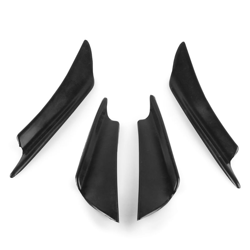 Universal Car Lower Bumper Lip Diffuser Spoiler 3 Shark Fins Carbon Fiber UK