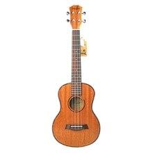 Tenor акустическая электрическая укулеле 26 дюймов для путешествий гитара 4 струны дерево красное дерево музыкальный инструмент