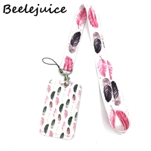 Leaves Creative Lanyard Card Holder Student Hanging Neck Phone Lanyard Badge Subway Access Card Holder Accessories women Gifts