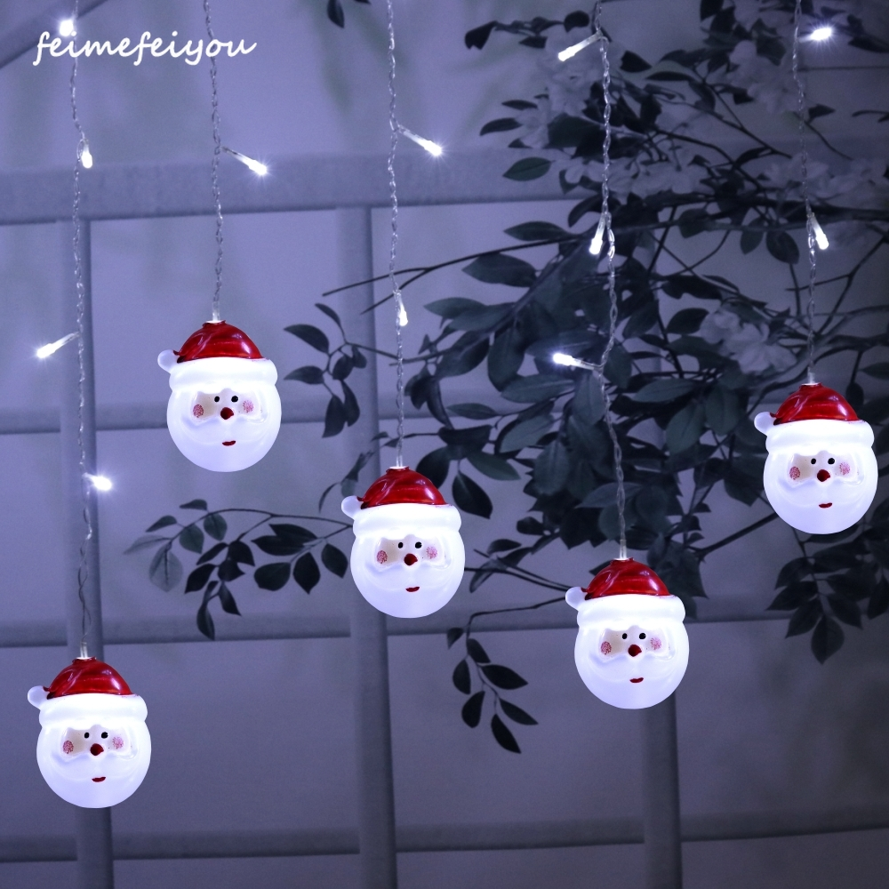 3.5m 96 LED Christmas Curtain Lights Old Man Style Outdoor Waterproof Fairy Tale Light Hall Bedroom Living Room Garden Lights