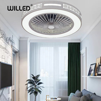 55 cm 50 cm Ceiling Fan remote Control mobile phone app with lights Indoor home ceiling fans round