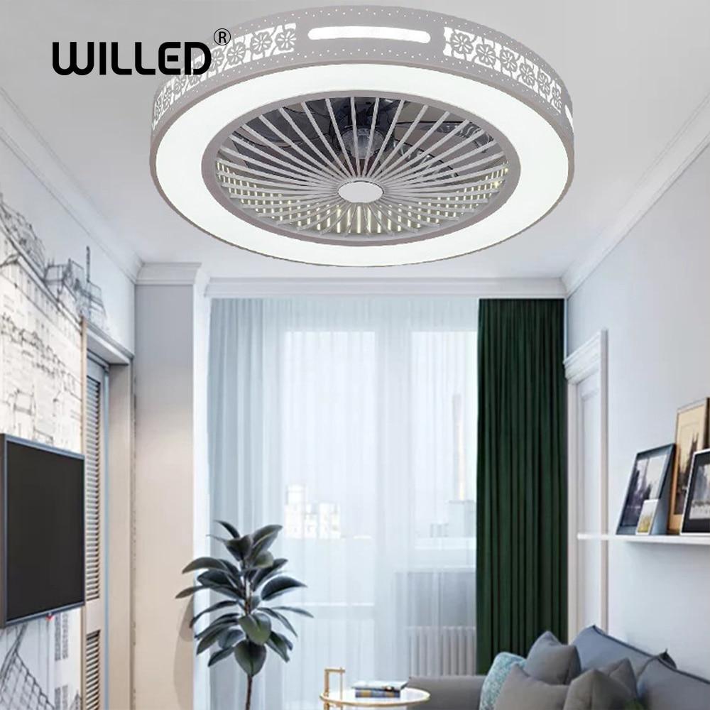 Tavan vantilatörü lamba uzaktan kumanda cep telefonu app bluetooth kontrol ışıkları ile kapalı ev tavan vantilatörleri iyi uyku 50cm 220v