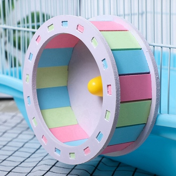 Pet Sports Fitness Hamster Running Wheel Hamster Jogging Wheel DIY Mute Color Funny Running PVC Disc Toy Hamster Pet Products 1