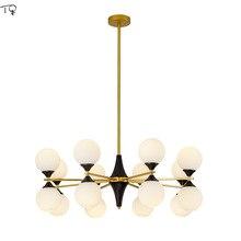 Glass Ball Magic Beans Chandelier LED Lustre Nordic Post-modern Bedroom Living Room Lamp Dining Room Simple Creative Decor Home недорого