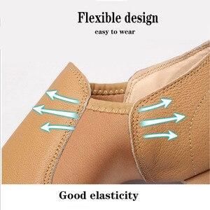 Image 2 - Dans Sneakers Latin dans ayakkabıları Femme yumuşak taban bale ayakkabıları elastik bant bayanlar caz balo salonu dans ayakkabı kız EU 34 44