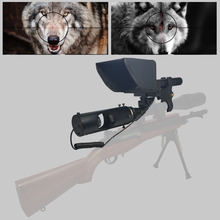 Купить с кэшбэком Newest Outdoor Hunting optical sight 4-16X40AOMC Tactical digital Infrared night vision Laser Sight use in day or dark night