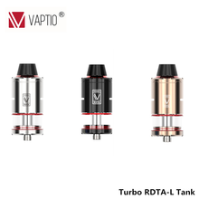 DIY Serviced Electronic Cigarette Atomizer Turbo RDTA-L Vape Tank 5.0ml RDA & RDTA 0.5ohm Coil Head Seal for 510 Thread