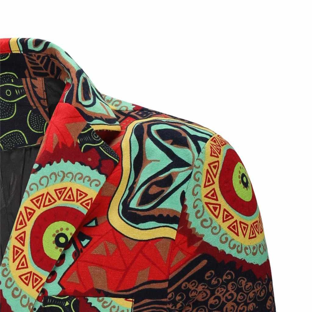 Jaycosin Vintage Etnische Blazer Dunne Jas Mannen Merk Zakelijke Kleding Slim Fit Mannen Merk Kleding 2019 Herfst Blazzer Jassen 9801