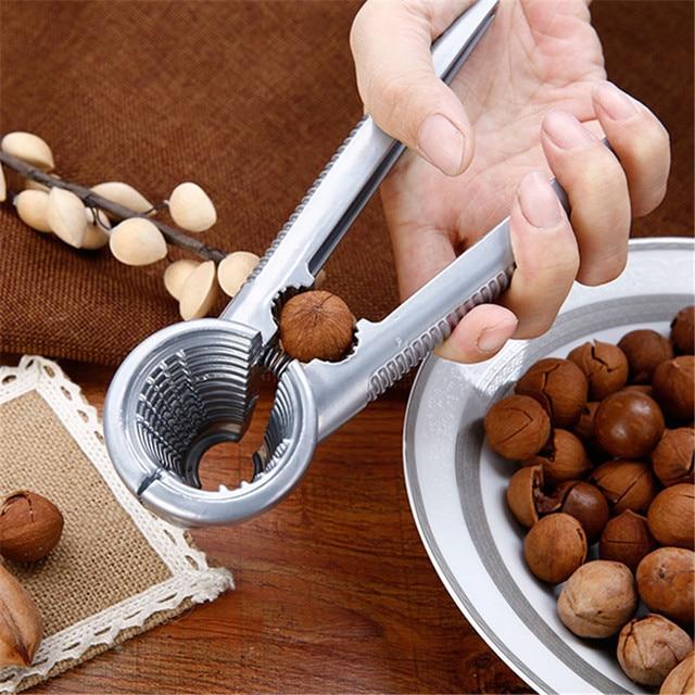 Alloy Clamp Plier Cracker Nutcracker Sheller Crack almond Walnut Pecan Hazelnut Filbert Nut Kitchen Nut Sheller Clip Tools