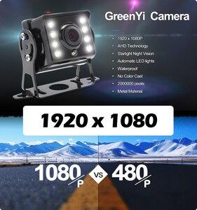 Image 3 - Hd ahd 1280*720p starlight visão noturna 8 led visão traseira do carro reversa câmera de backup ahd com 10m 15m 20m cabo vídeo