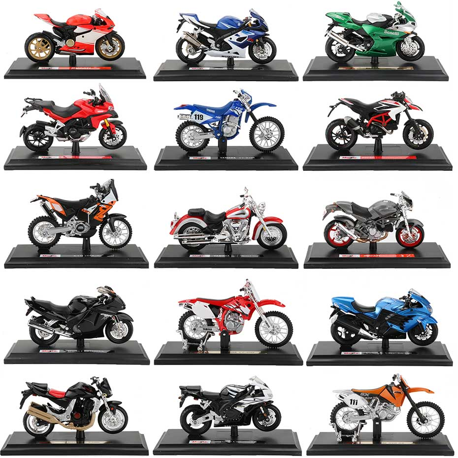 1:18 Alloy Motorcycle Model Toy Motor Bicycle World Championship Off Road Mountain Bike Racing Motorcycles Collection For Adult