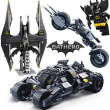 Super Hero Batman and Joker Batwing Legoed Model Building Blocks for Children Boy Game Toy Technic Bricks Gift(China)