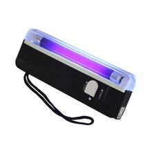 Lampe de poche Portable UV, 4W, lumière noire, torche Portable, avec caisse de faux billets