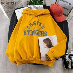 Image 4 - Hoodies Vrouwen Grote Maat Leisure Brief Gedrukt Lange Mouwen Hooded Womens Trui Zachte Katoen Koreaanse Stijl Dames Sweatshirts
