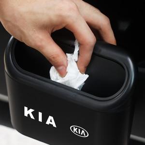 Image 2 - Lata de lixo do carro assento de carro porta traseira pendurado caixa de armazenamento lata de lixo para kia k2 k3 k5 k9 ceed sportage sorento cerato sid r rio alma