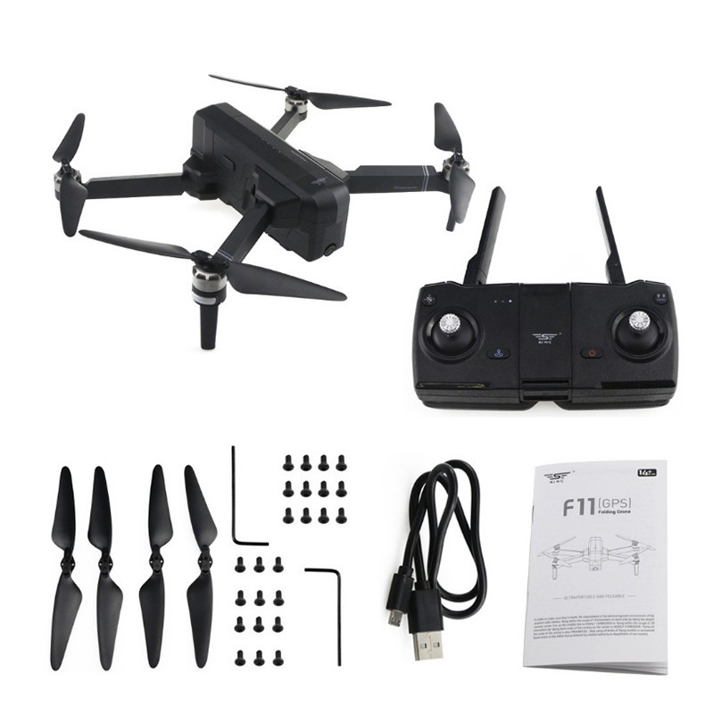 Shi Ji F11 Brushless Unmanned Aerial Vehicle GPS Smart Aerial Photography 1080P Adjustable Webcam 5g Follow Quadcopter