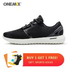 ONEMIX nowe męskie buty do biegania oddychające lekkie treningowe buty sportowe męskie Fitness Walking Jogging Casual buty sportowe tanie tanio CN (pochodzenie) LIFESTYLE Stabilność Odkryty lawn Początkujący Dla dorosłych Masaż Mesh Średnie (b m) Niskie 1309