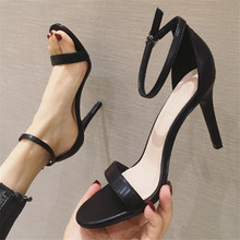 цена на Sandals women's shoes new fashion open toe with suede high heels sexy women's shoes wedges shoes for women platform sandals