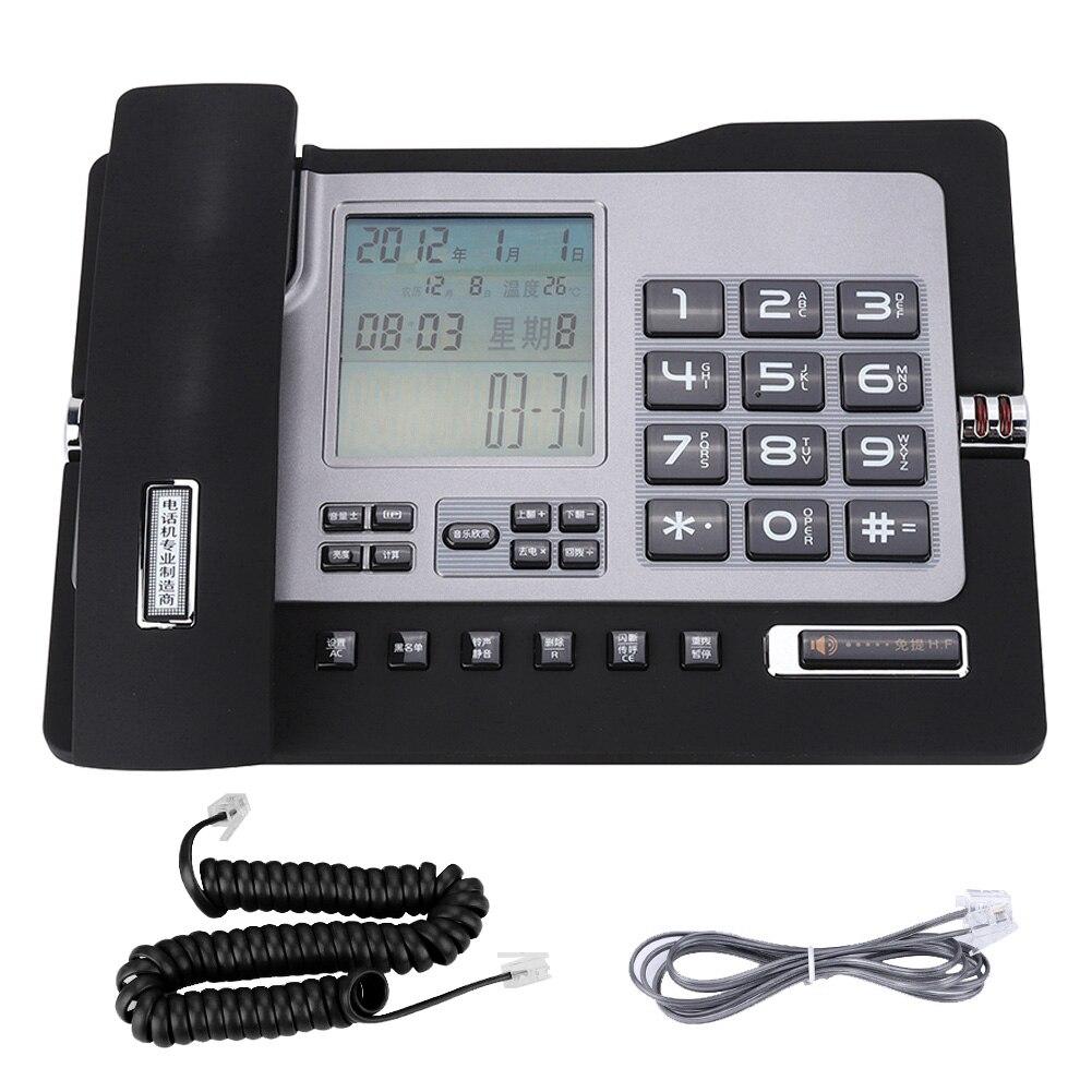 Teléfono Fijo G026, teléfono Fijo de escritorio para el hogar y la oficina, teléfono de escritorio Fijo portátil