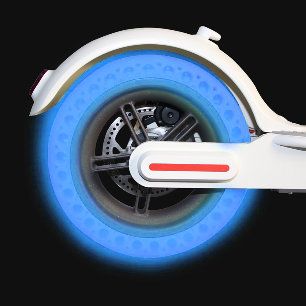 Blue//Fluorescent Hollow Wheel Tyre Tires Luminous for Xiaomi Mijia M365 Scooter