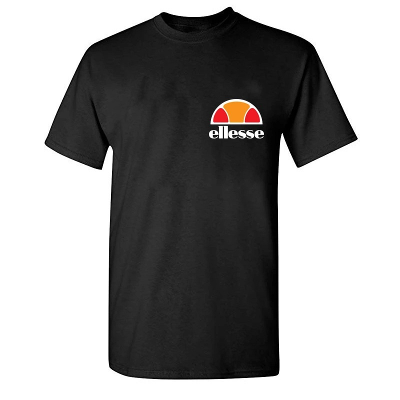 2019 Summer New Style Ellesse-Style Printed Short Sleeved Hot Selling Casual T-shirt Men's