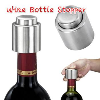 1PCS Stainless Steel Wine Bottle Stopper Vacuum Seal Protector Red Wine Cap Fresh Keeper Storage Wine Bar Tool Kitchen Gadgets image