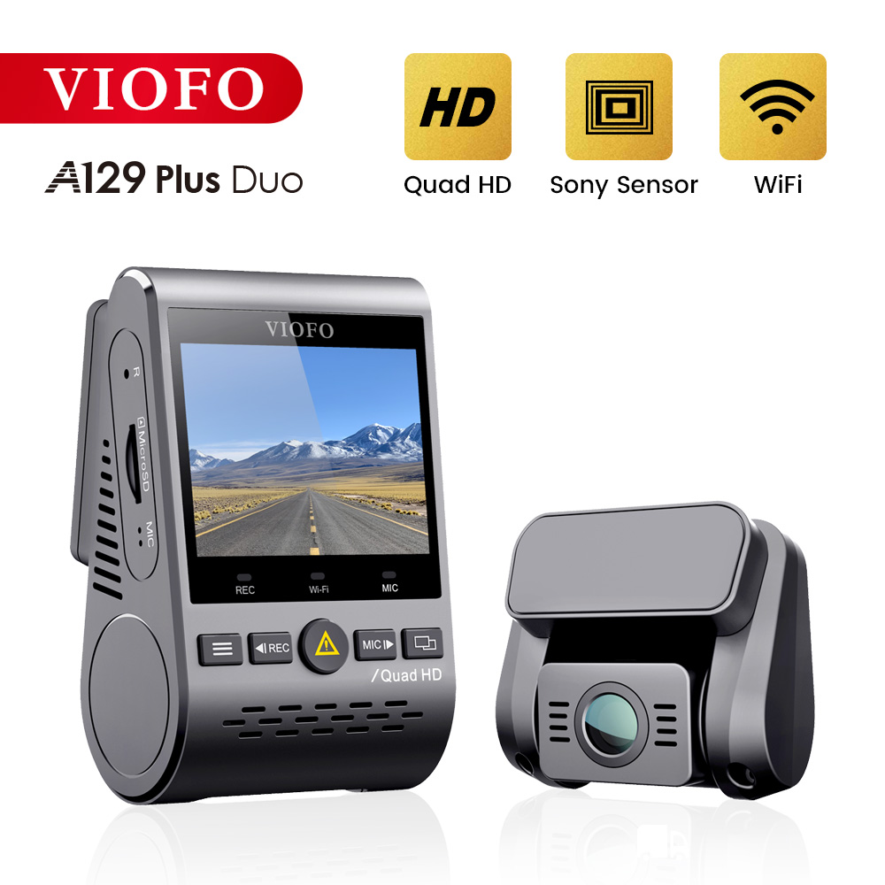 VIOFO A129 Plus Car DVR Dash Cam with Rear View Camera Car Video Recorder Quad HD Night Vision Sony Starvis Image Sensor Dashcam 1