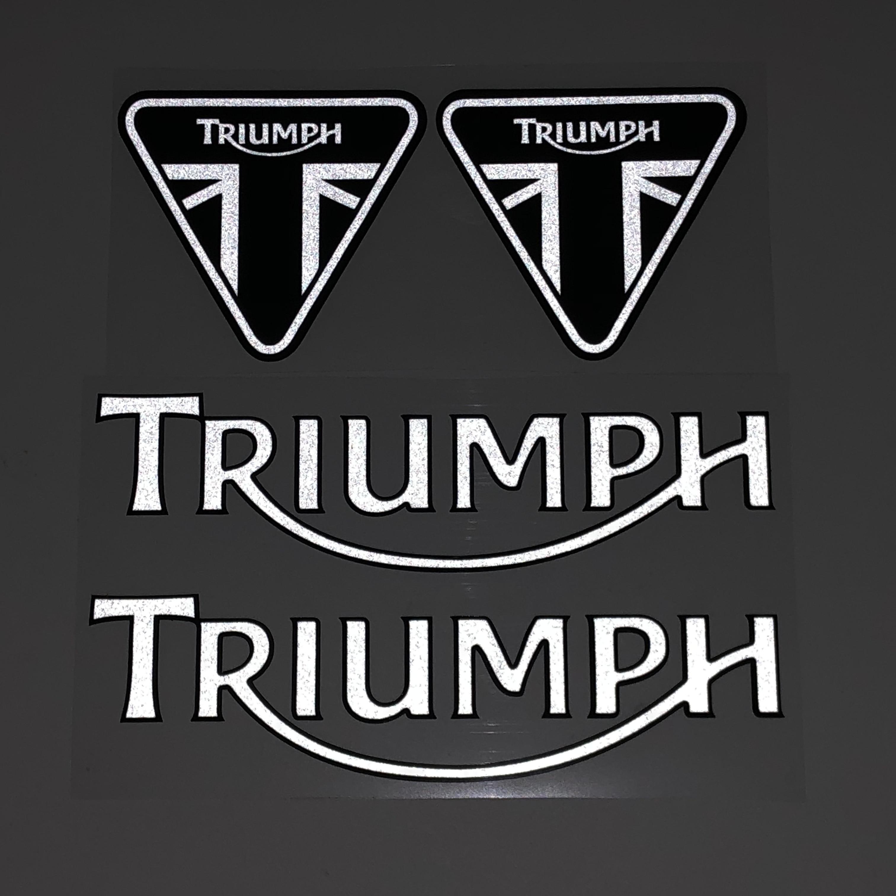 Para triumph capacete da motocicleta tanque de combustível adesivo decalque reflexivo adesivo do carro adequado para o logotipo triumph