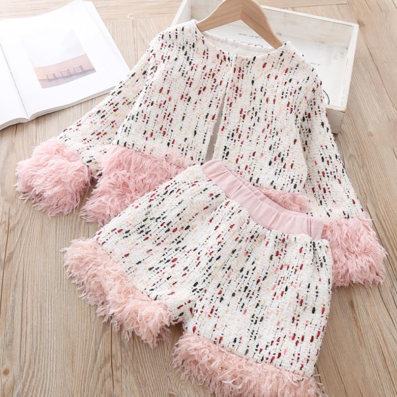 Зимние костюмы комплект модной детской одежды для девочек, детская куртка, шорты, костюм для девочек подростков, пальто, Осенний комбинезон, одежда, 7 лет