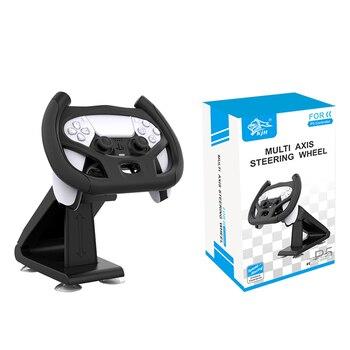 310mm racing steering wheel pu steering wheel flat racing steering wheel 4 buttons game steering wheel Multi Axis Steering Wheel for Playstation 5 PS5 Racing Game Handle Bracket Steering Wheel