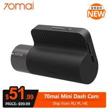 Видеорегистратор 70mai Mini Dash Cam, 1600P HD, Wi Fi, G датчик, управление через приложение