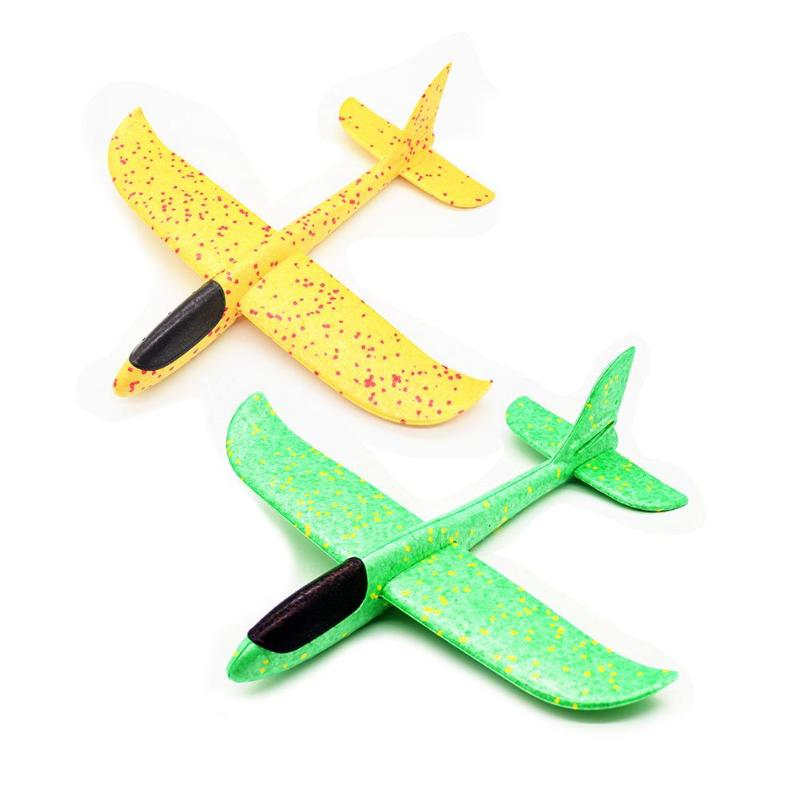 2pcs EPP Foam Glider Plane DIY Hand Throw Fly Aircraft Outdoor Launch Roundabout Toy Model Building Kits For Kids Children