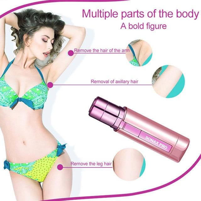 Portable Mini Electric Body Facial Hair Remover Depilator Epilator Eyebrow Shaver Bikini Body Face Neck Leg Hair Remover Tool 3