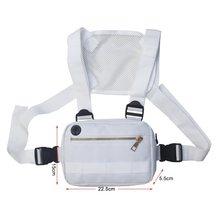 Нагрудная поясная сумка для мужчин и женщин уличная Регулируемая