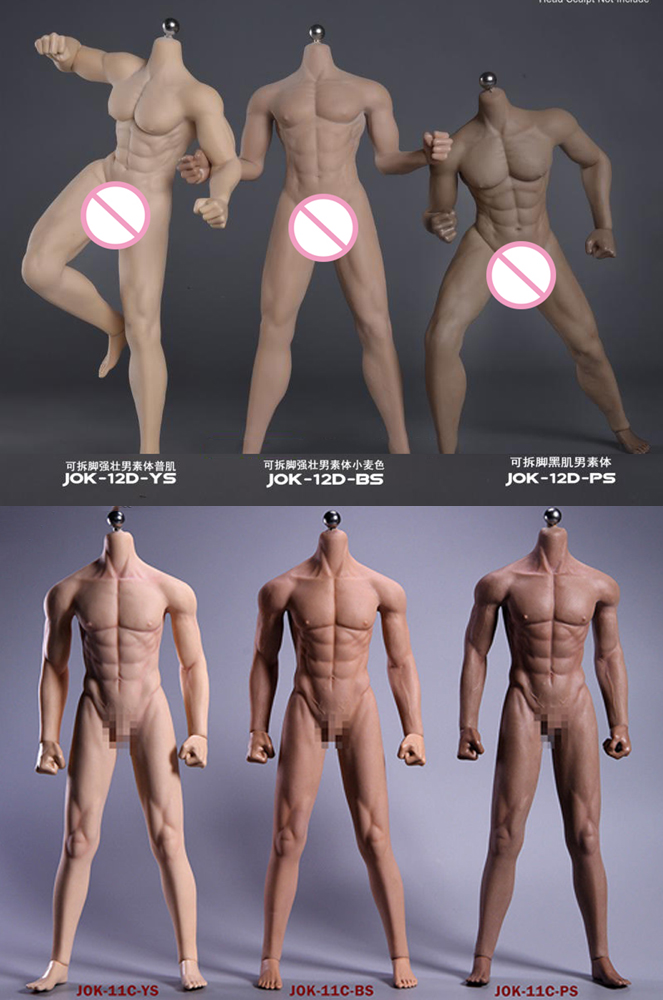 Jiaou Doll JOK-12D 1/6 New Strong Male Super-Flexible Seamless Body With Stainless Steel Skeleton Model For 12'' Figure