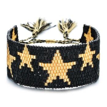 Nueva moda colorida joyería Boho para mujer pulseras estrella MIYUKI para amistad borla pulseiras feminina pulsera de declaración