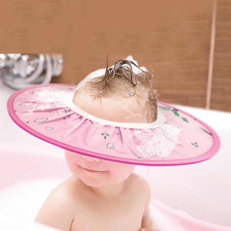 Baby Shampoo Shower Cap Visor Shield Safe Adjustable Bathing Ear Protect EVA Soft Hat for Child Kid